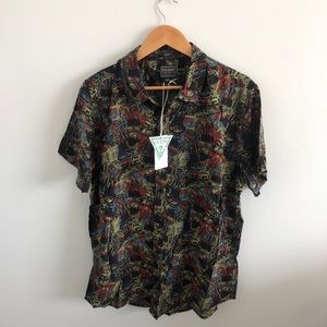 GUESS slim fit button up tee